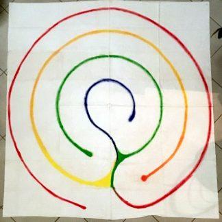 tapis labyrinthe méditation