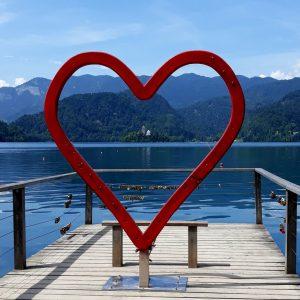 coeur lac meditation amoureux